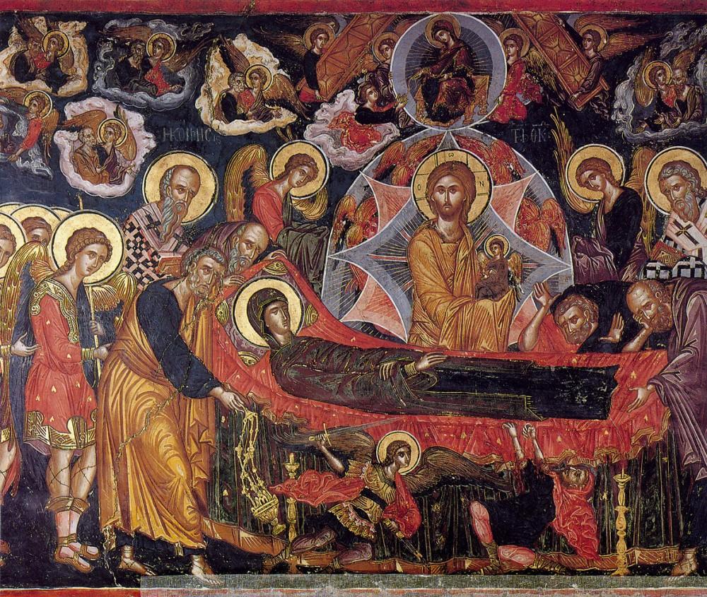 Успение Пресвятой Богородицы. Монастырь Ставроникита. Афон (автор: Феофан Критский)