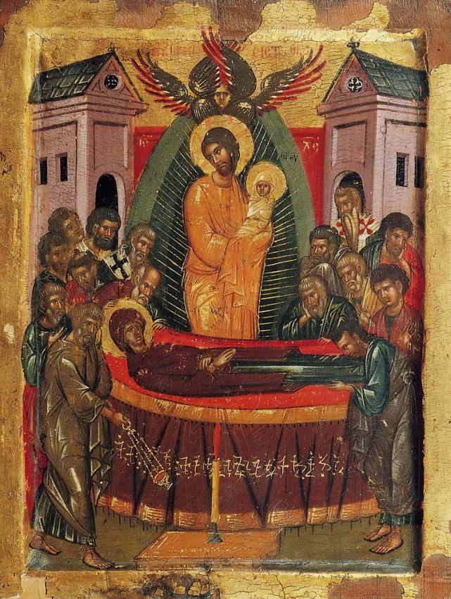 Успение Пресвятой Богородицы. Патмос, монастырь св. Иоанна Богослова. XV век.
