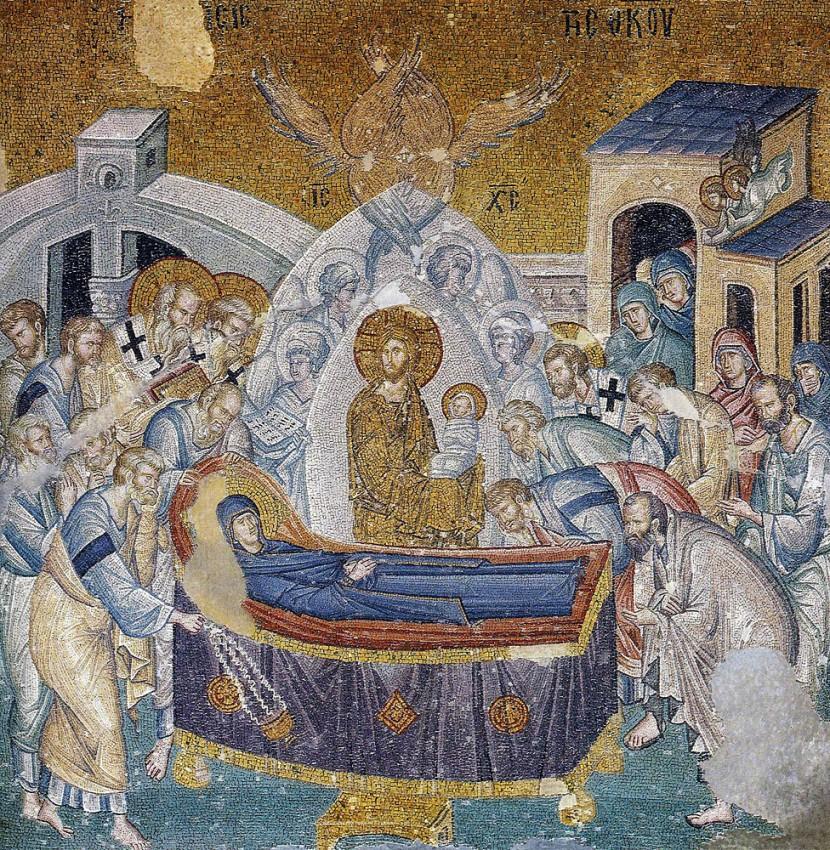 Успение Пресвятой Богородицы. Константинополь. Мозаика монастыря Хора