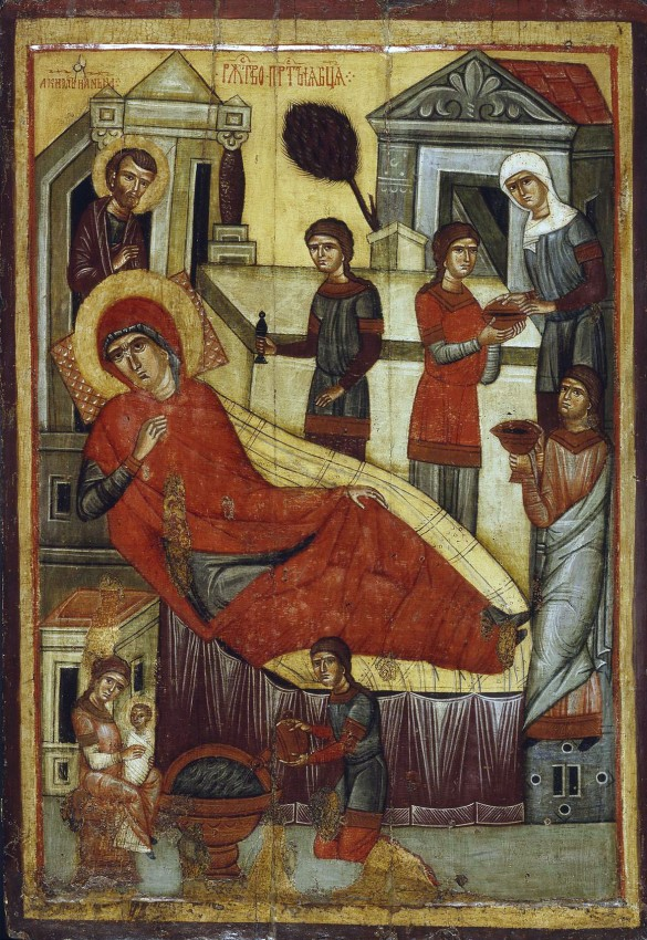 Рождество Пресвятой Богородицы. XIV в. Государственная Третьяковская галерея, Москва