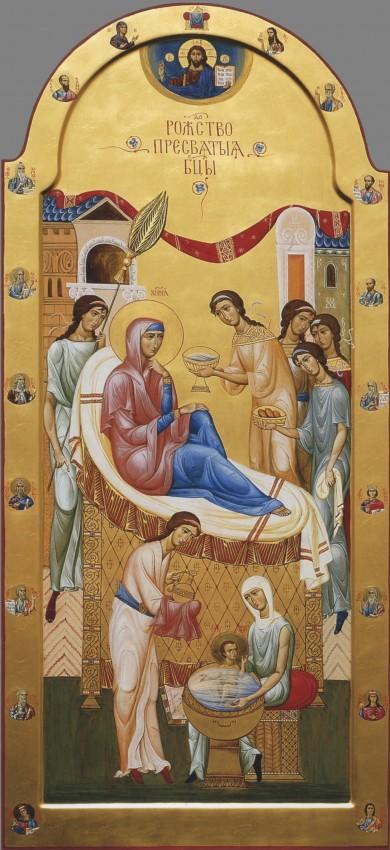 Рождество Пресвятой Богородицы. Современная икона