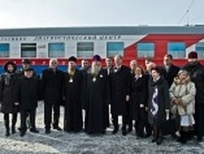 Train passage for Russia spiritual renewal takes place in Siberia