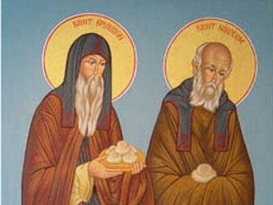 Преподобные Спиридон и Никодим