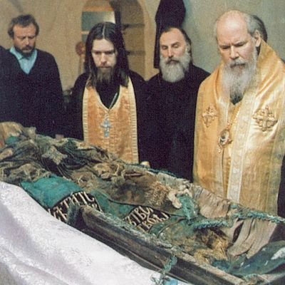 The Uncovering of the Relics of Patriarch Tikhon