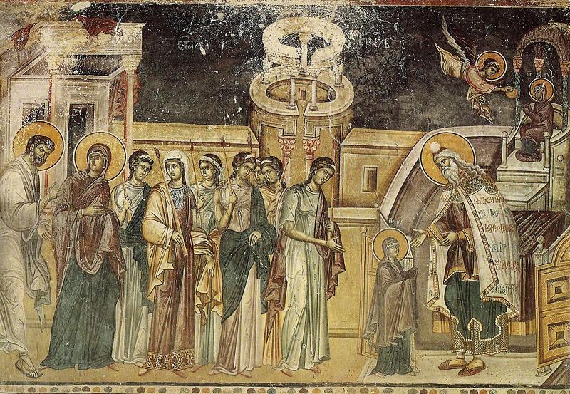 Введение во храм Пресвятой Богородицы. Хиландар, XIV век