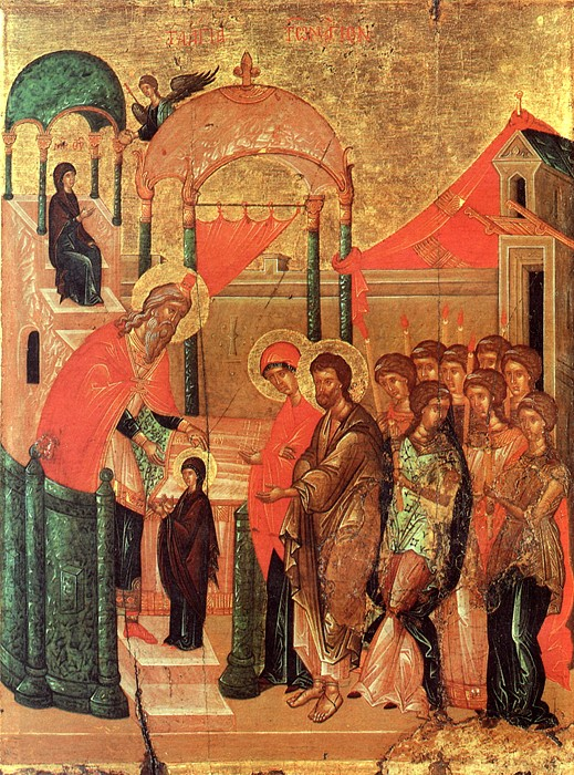 Введение во храм Пресвятой Богородицы. Византия, XV век. ЦАК МДА