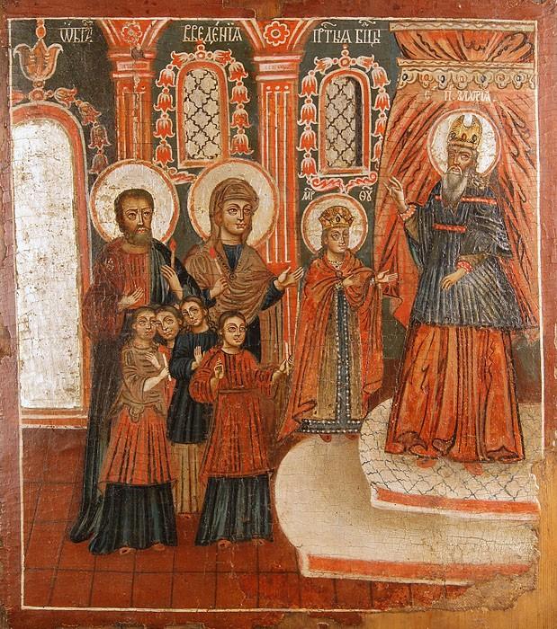 Введение во храм Пресвятой Богородицы. Русский север, XVIII век