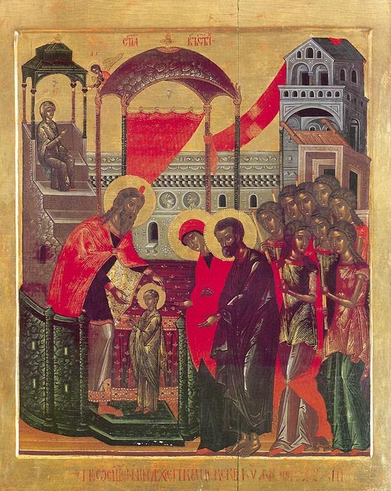 Введение во храм Пресвятой Богородицы. Хиландар (Афон), XVI век
