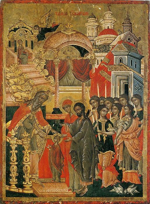 Введение во храм Пресвятой Богородицы. Греция, XVII век