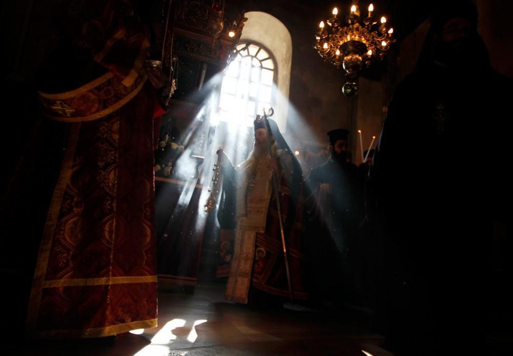 Иерусалимский Патриарх в базилике Рождества Христова