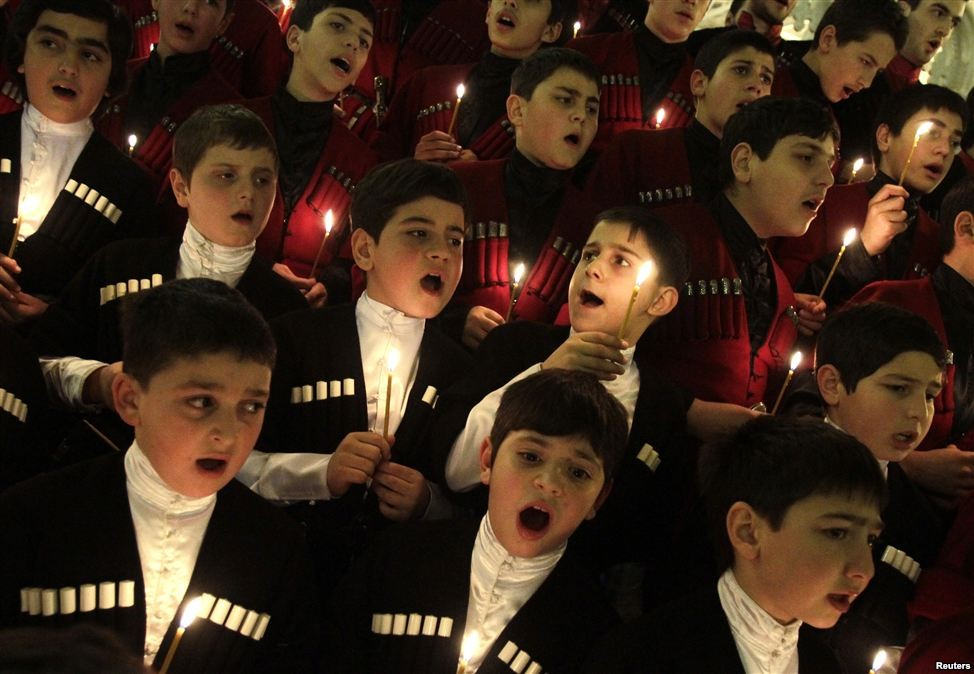 Детский хор, соборр Св. Троицы, Тбилиси, Грузия