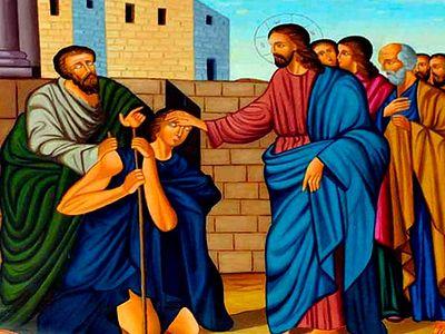 14th Sunday of Luke. The Blind Beggar (18:35-43)