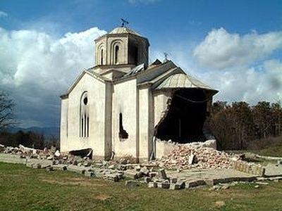 Массовое осквернение святынь является инструментом запугивания православного населения Косова и Метохии, - ОВЦС