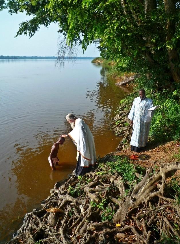 Крещение в водах реки Убанги, Импфондо