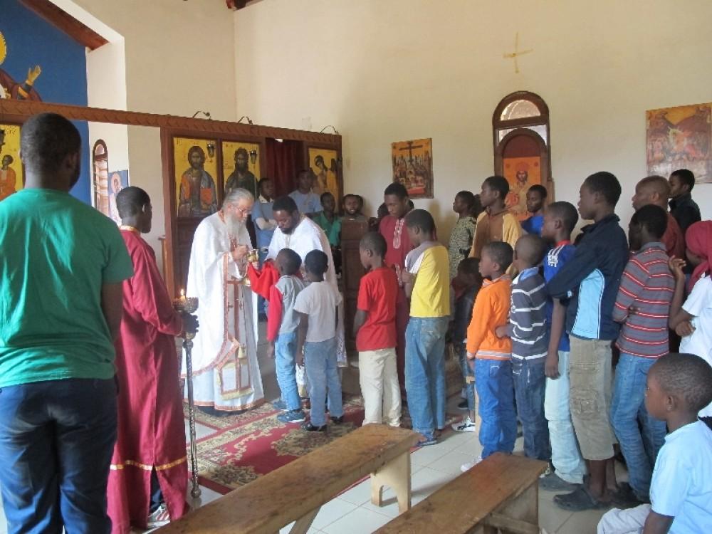 Причастие в церкви св. Ирины, Долизи