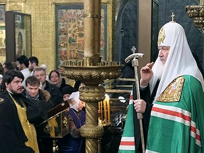 His Holiness Patriarch Kirill celebrates the Liturgy for the 400th anniversary of the House of Romanov