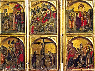 Благовещение и Крест