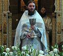 Богослужение в Сретенском монастыре в Великую субботу