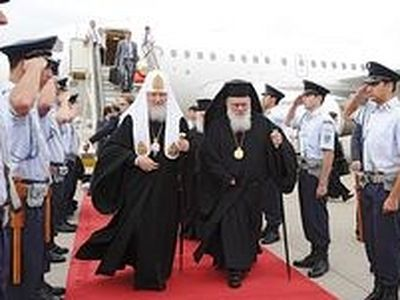 Patriarch Kirill says pilgrimage development from Russia to help Greece to cope with crisis