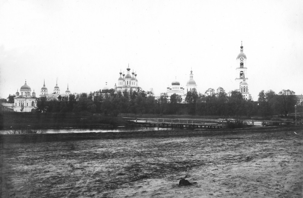 View of Sarov Monastery from the Sarovka River.