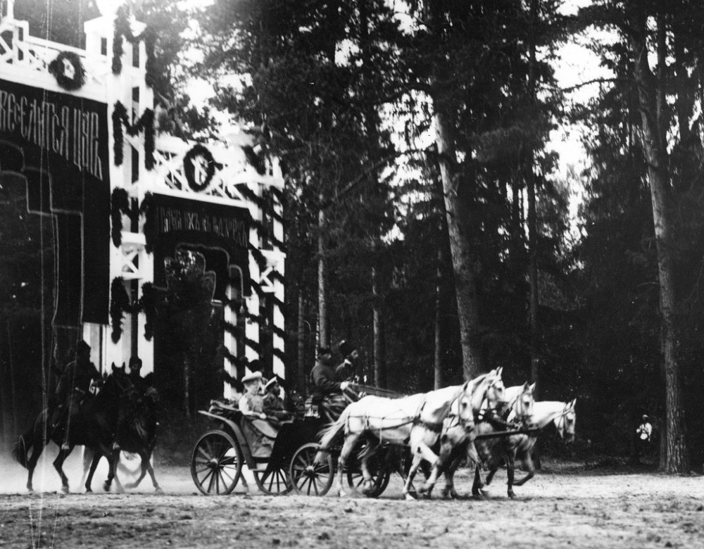 The triumphal entrance of the Imperial carriage into Tambov Province.