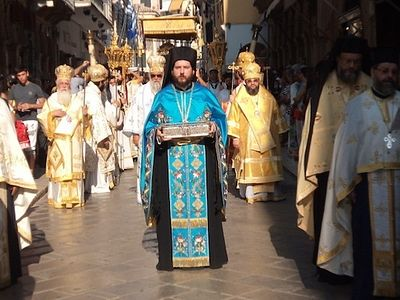 Cross procession with Relics of St. Spyridon takes place on Corfu in commemoration of liberation from Hagarenes