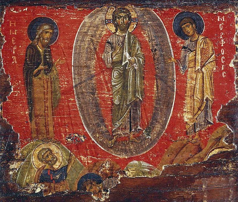 Преображение Господне. Икона. Византия. XII в. СПб, Эрмитаж