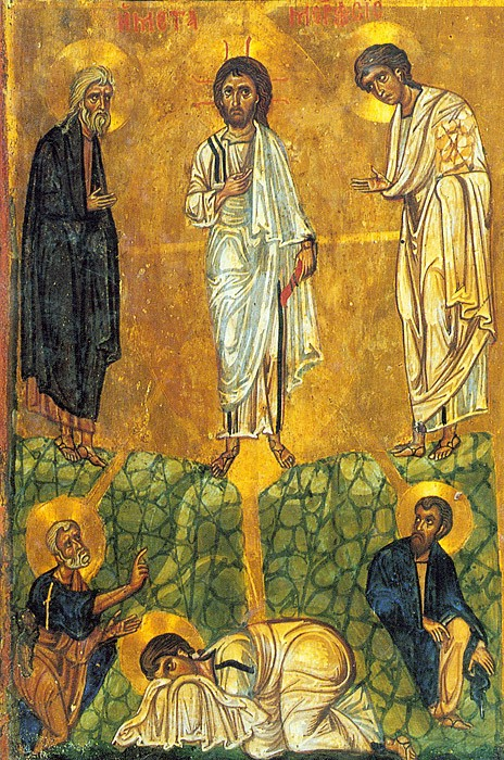 Преображение Господне. Икона. Монастырь св. Екатерины, Синай. XIII в.