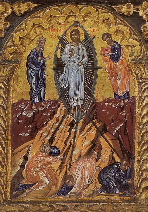 Преображение Господне. Икона. Афон, XVI в.