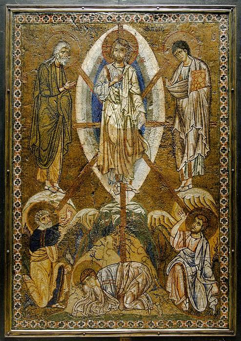 Преображение Господне. Мозаика. Константинополь. XII в.