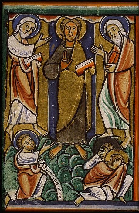 Преображение Господне. Миниатюра. Франция. XIII в.