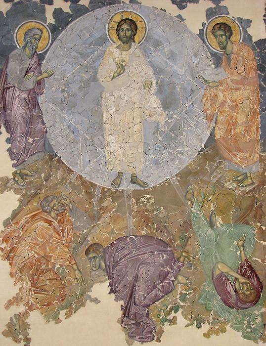 Преображение Господне. Фреска. Церковь Преображения (Спас на Ковалеве), Великий Новгород. XIV в.