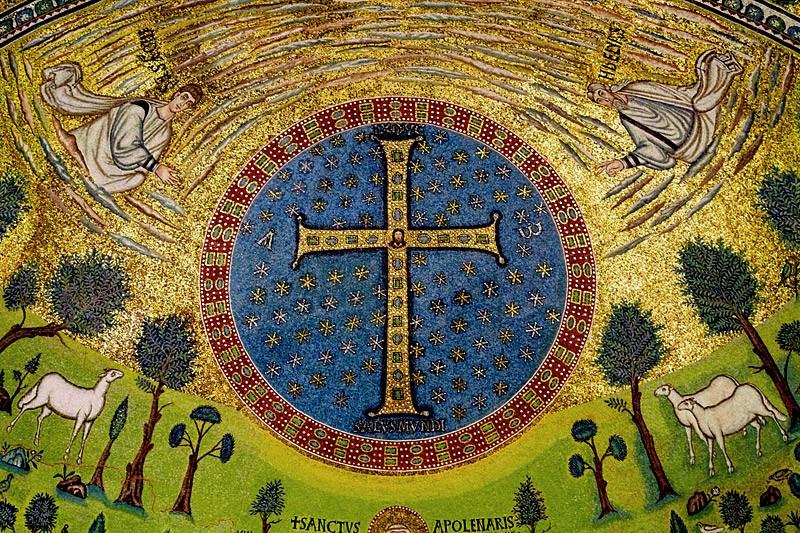 Преображение Господне. Мозаика. Базилика Сант-Аполлинаре ин Классе, Равенна. VI в.