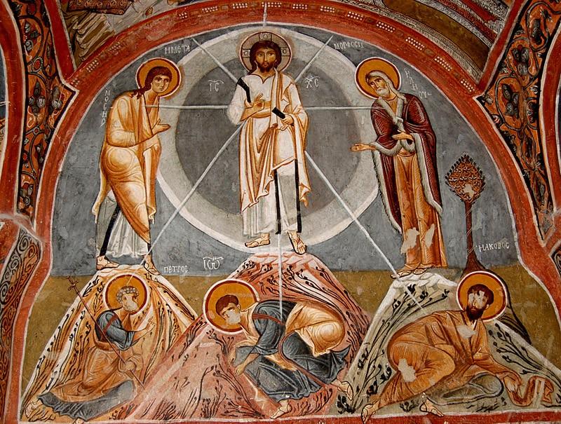 Преображение Господне. Фреска. Темная церковь, Каппадокия. XII в.