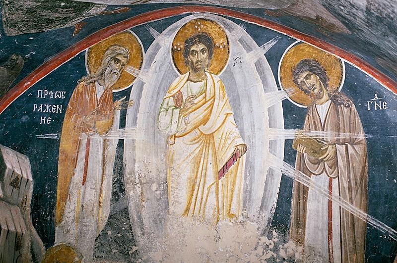 Преображение Господне. Фреска. Бояны, Болгария. XIII в.