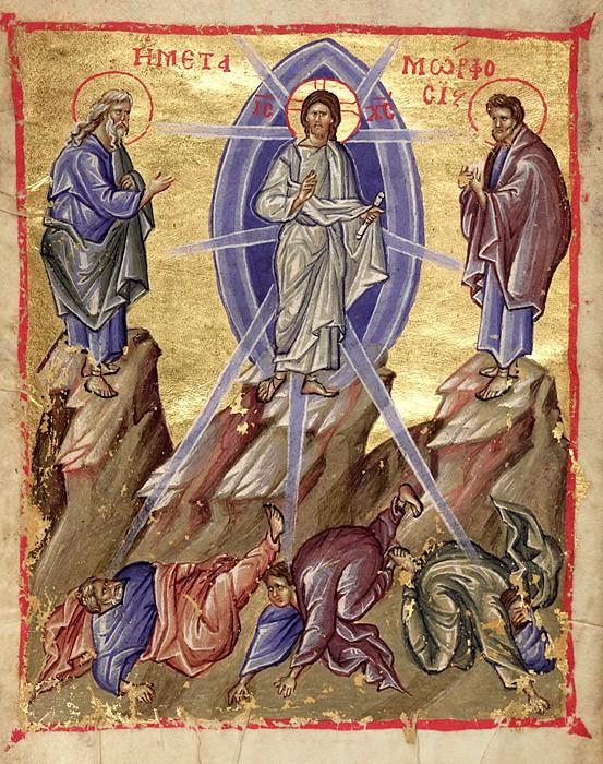 Преображение Господне. Миниатюра. Византия. XIV в.