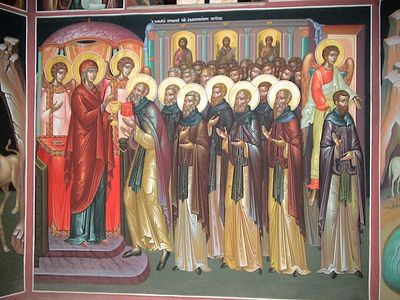 The Vision of the Theotokos Communing the Weary Fathers