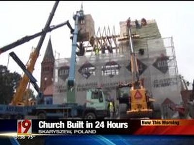 A Church built in Poland in less than one day