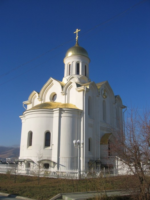 The Holy Trinity Church in Ulan Bator, Mongolia. It is the largest Orthodox church in Asia