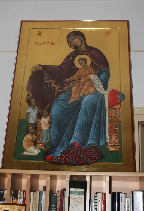 An icon in the residence of Metropolitan Macarios of Kenya