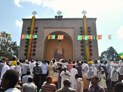 Ethiopia Celebrates Meskel, A Christian Holiday All Its Own, With Yellow Flowers And Blazing Bonfires