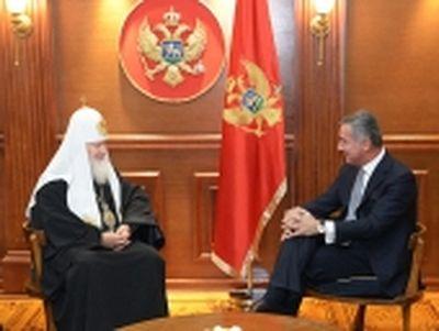 Патриарх Кирилл встретился с премьер-министром Черногории Мило Джукановичем