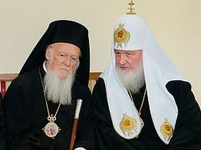 Состоялась встреча Патриарха Кирилла с Патриархом Константинопольским Варфоломеем