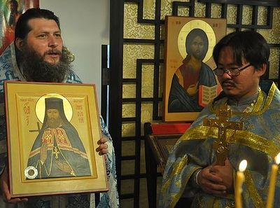 Icon of Patron-Saint of Orthodox Church in China donated by Irkutsk to Hong Kong