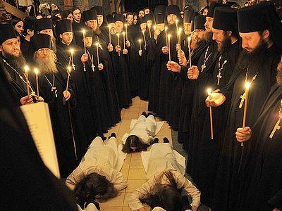 Всенощное бдение в Сретенском монастыре накануне дня памяти сщмч. Илариона