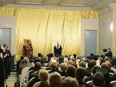 Слово Святейшего Патриарха Кирилла на встрече с преподавателями и студентами Сретенской духовной семинарии