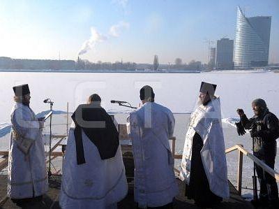 В Риге состоится чин Великого освящения воды в Даугаве