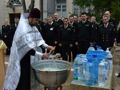 В штабе Черноморского флота совершили Великое освящение воды