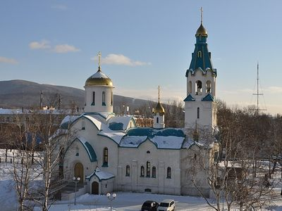 Gunman kills two in church off Russia's eastern coast