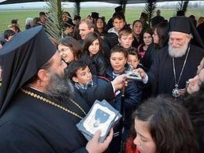 В Греции заложен первый храм в честь преподобного Порфирия Кавсокаливита